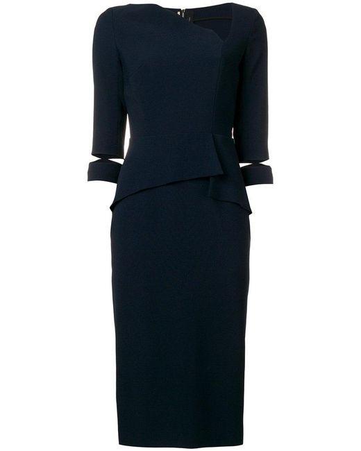 Roland Mouret - Blue Dunne Dress - Lyst