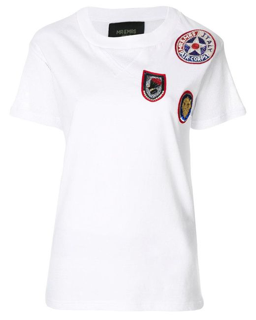 Mr & Mrs Italy - White Patches T-shirt - Lyst