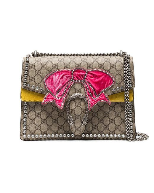 Brown Dionysus medium shoulder bag with bow Gucci 51CkaAa0
