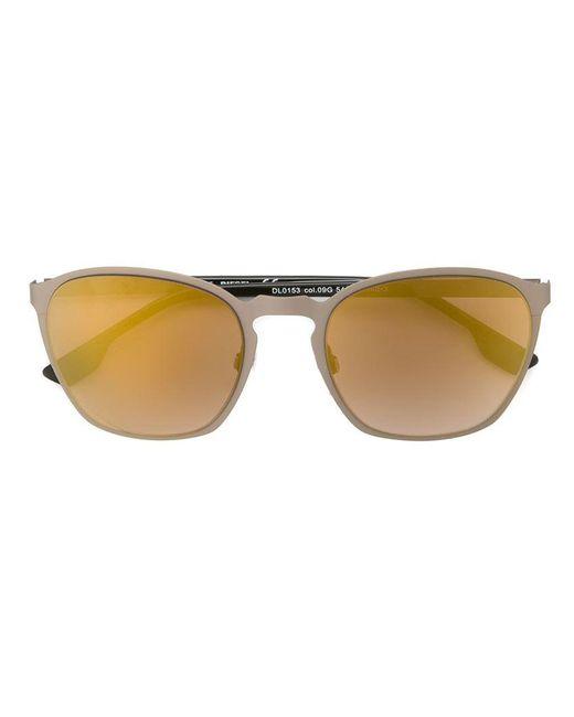 DIESEL | Metallic Round Oversized Sunglasses | Lyst