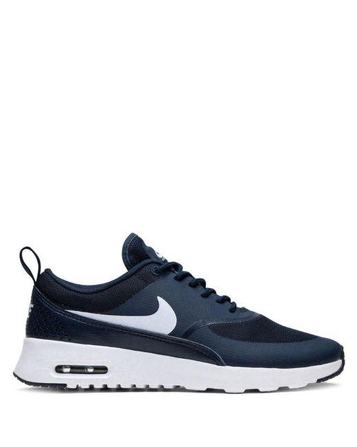 Nike Womens Air Max Thea Prm Sneakers in Black Lyst