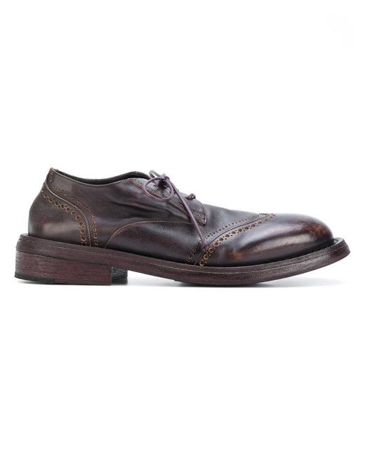Marsèll | Brown Worn Out Effect Brogues for Men | Lyst