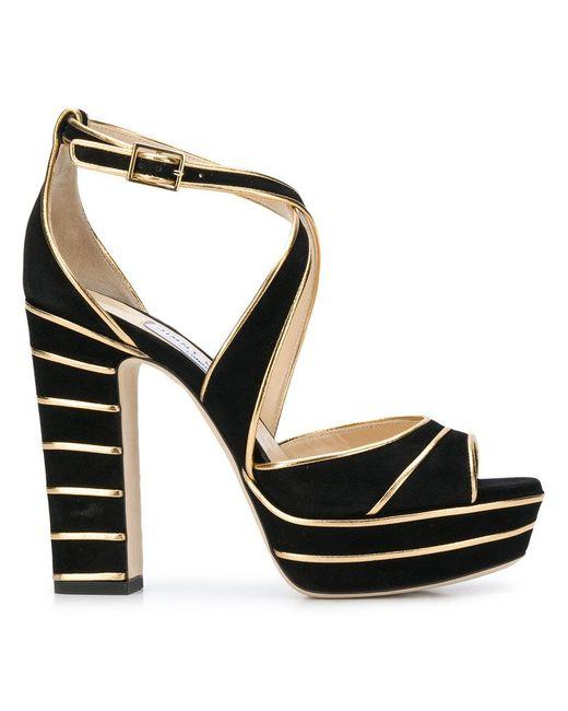 956cd3dcb63ac2 Jimmy Choo - Black April 120 Sandals - Lyst ...