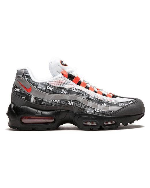 Nike - Black Air Max 95 Printed Sneakers for Men - Lyst