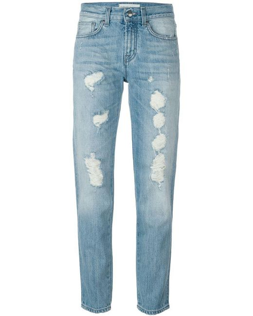 P.A.R.O.S.H. - Blue Royroger's X Distressed Jeans - Lyst