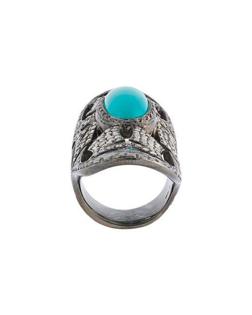 Loree Rodkin - Metallic Turquoise & Diamond Bondage Ring - Lyst
