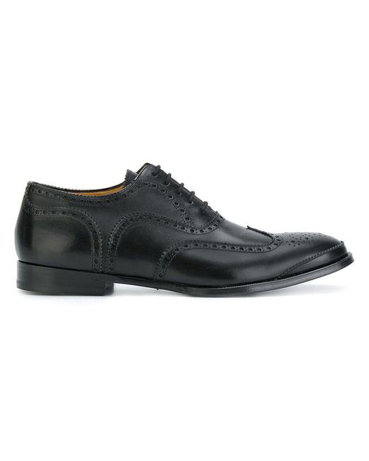 Alexander McQueen - Black Oxford Brogues for Men - Lyst