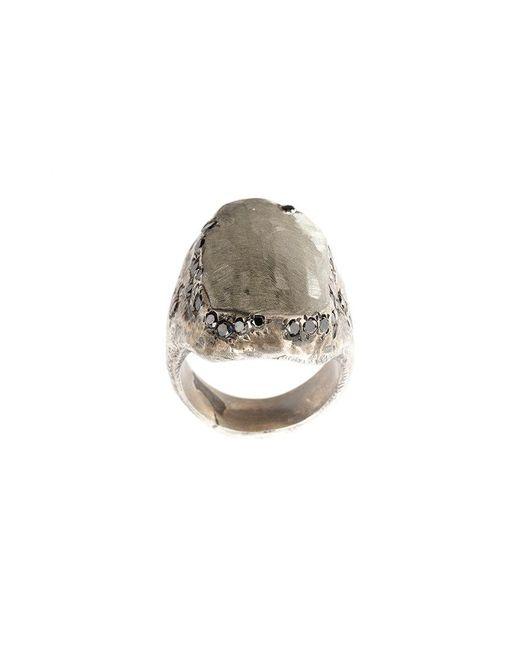 Tobias Wistisen - Gray Diamond Flat Surface Ring - Lyst
