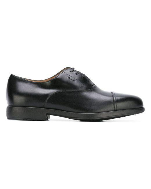 Ferragamo - Black Lace-up Shoes for Men - Lyst