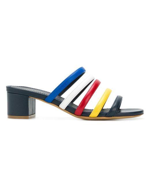 Mansur Gavriel - Blue Multi Strap Mules - Lyst
