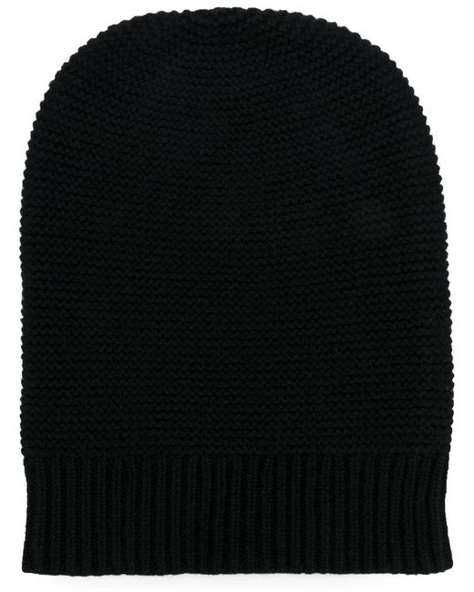 N.Peal Cashmere - Black Knitted Beanie Hat for Men - Lyst
