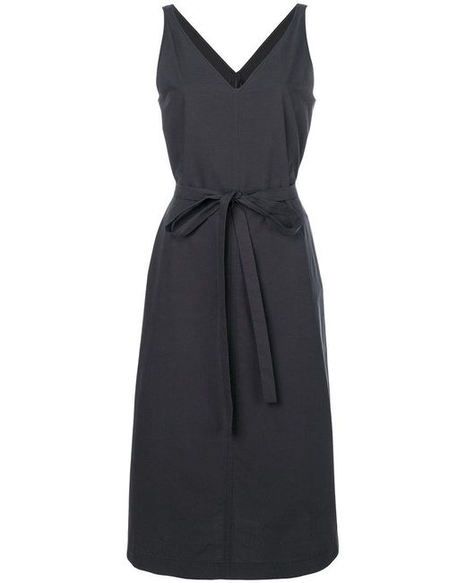 Joseph - Gray V-neck Belted Dress - Lyst