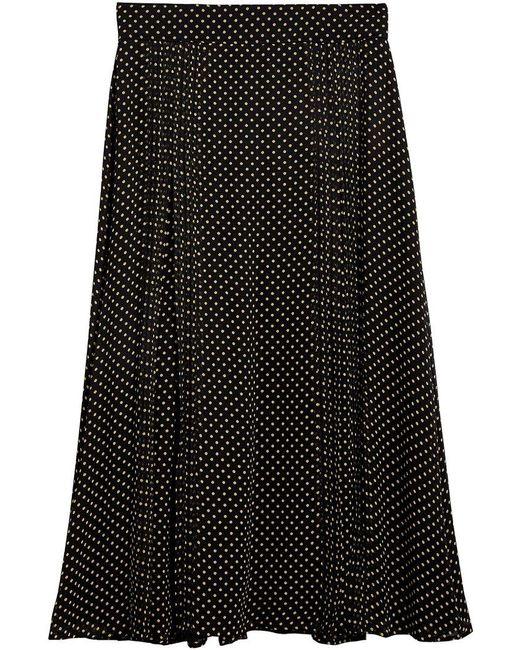 Burberry - Black Polka Dot Print Skirt - Lyst