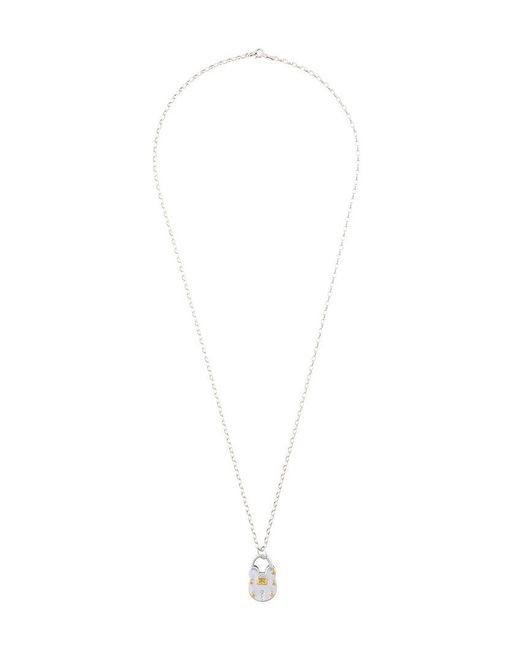 True Rocks | Metallic Lock Pendant Necklace | Lyst