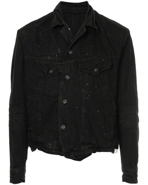Julius - Black Distressed Denim Jacket for Men - Lyst