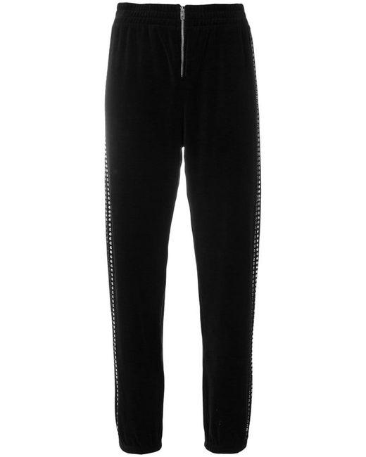Juicy Couture - Black Swarovski Embellished Velour jogger Pants - Lyst