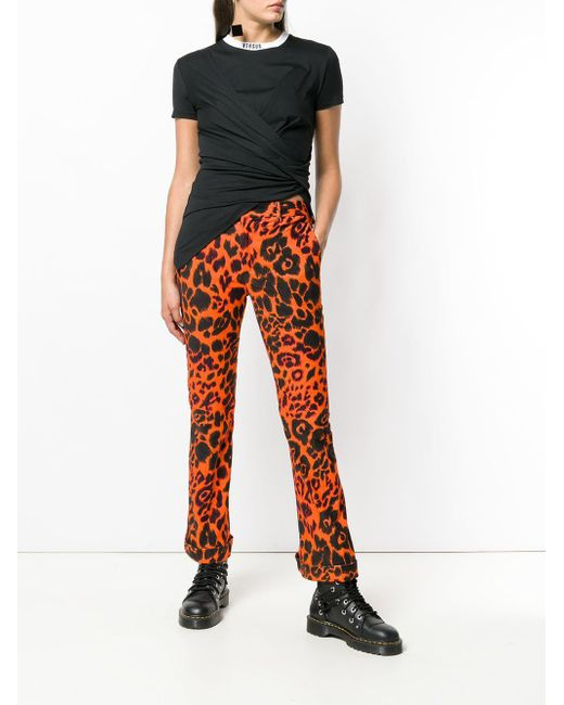 090f0d5cfb99 ... R13 - Yellow Leopard Print Trousers - Lyst ...