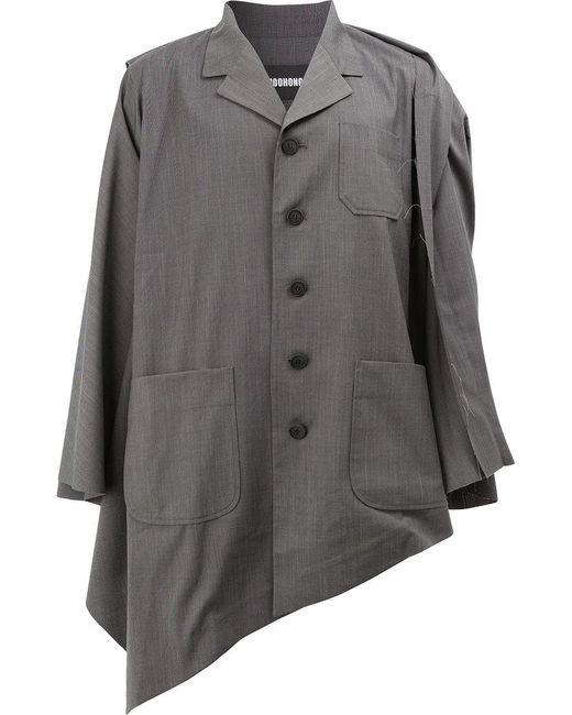 Moohong - Gray Asymmetric Hem Jacket for Men - Lyst