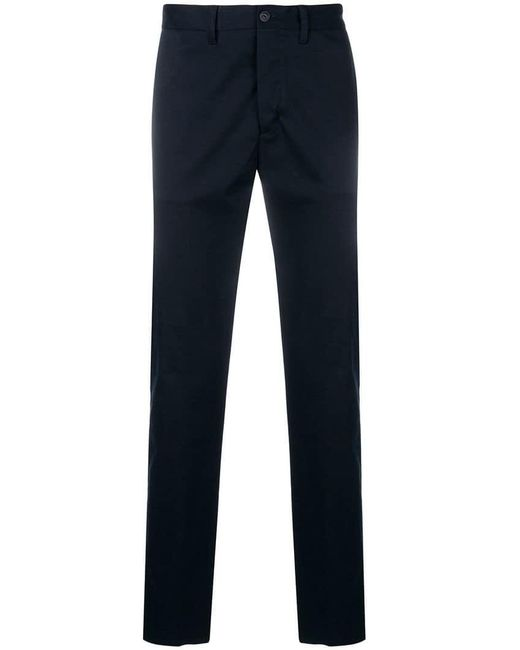 Moncler - Blue Slim Fit Trousers for Men - Lyst