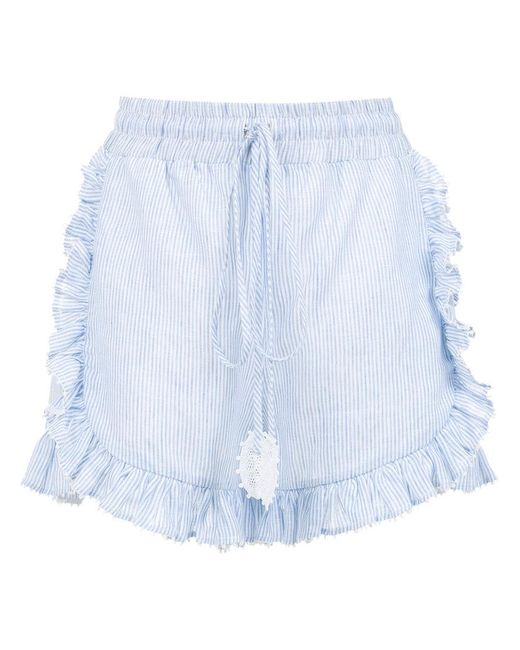 Martha Medeiros - Blue Striped Shorts - Lyst