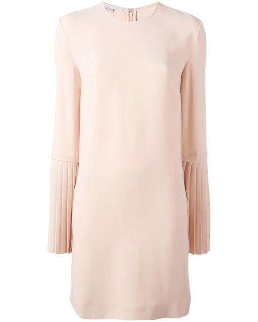 Stella McCartney - Pink Pleated Sleeve Dress - Lyst