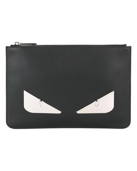 Fendi | Black Bag Bugs Clutch for Men | Lyst
