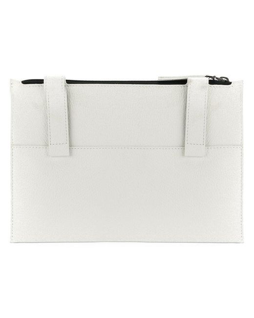 Maison Margiela | White Zip-closure Clutch for Men | Lyst