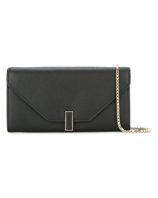 Valextra - Black Wallet On Chain Bag - Lyst