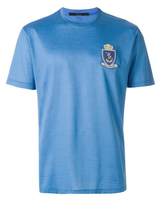 Billionaire - Blue Crest Front T-shirt for Men - Lyst