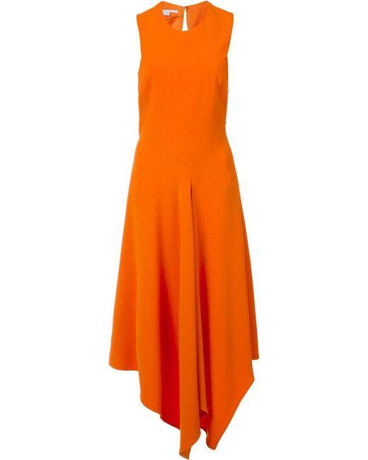 Stella McCartney - Orange Cut-out Back Midi Dress - Lyst