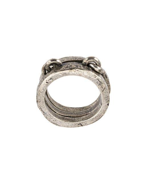 Tobias Wistisen - Metallic Linked Ring for Men - Lyst