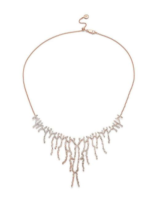 Monica Vinader - Metallic Rp Riva Waterfall Cocktail Diamond Necklace - Lyst