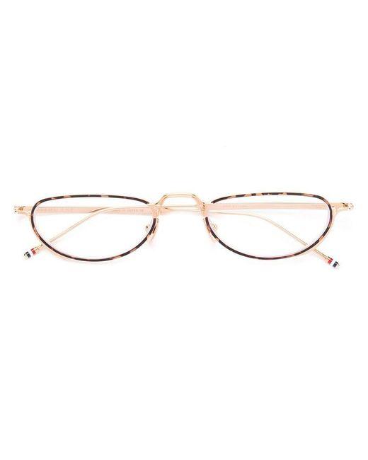 b704cff670d990 Thom Browne - Metallic Lunettes de vue à monture ovale for Men - Lyst ...