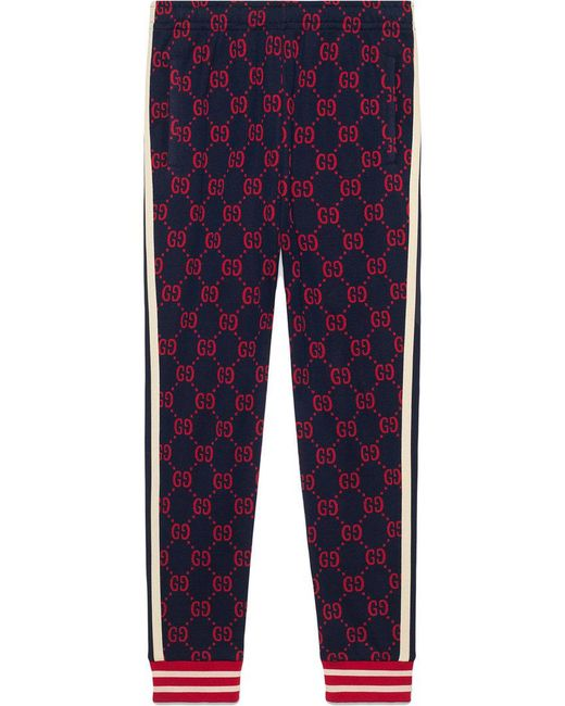 Gucci - Blue Pantalones joggers de jacquard GG for Men - Lyst