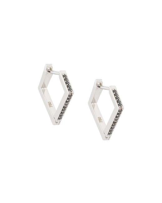 Lizzie Mandler   Metallic 18kt Gold 'huggies' Black Diamond Earrings   Lyst
