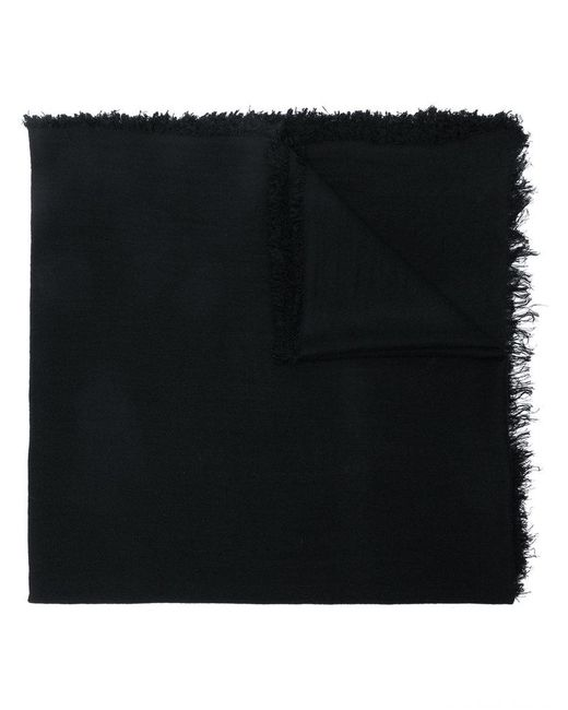 Ann Demeulemeester - Black Frayed Oversized Scarf for Men - Lyst