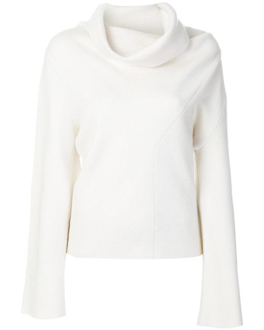 Chloé - White Wide Turtleneck Sweater - Lyst