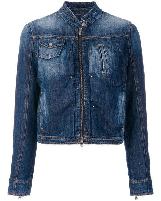 Emporio Armani - Blue Denim Jacket - Lyst