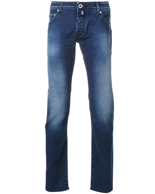 Jacob Cohen - Blue Stonewashed Slim-fit Jeans for Men - Lyst