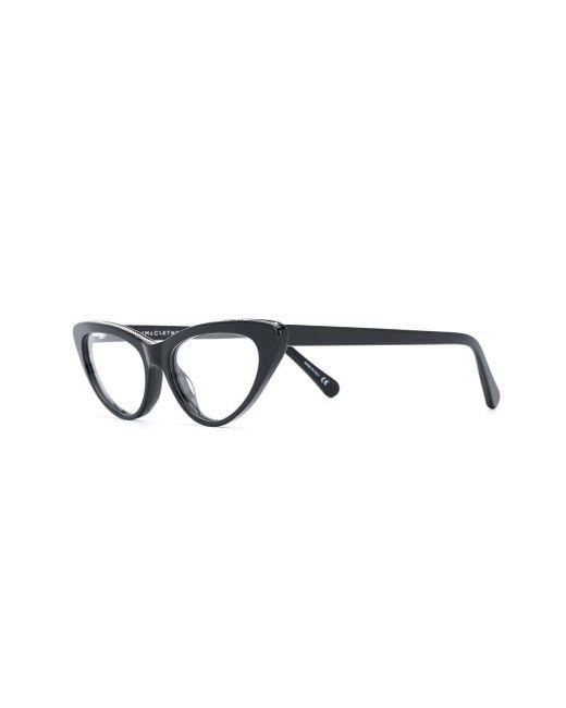 a225ad6a25419 Stella McCartney Cat Eye Frame Glasses in Black - Lyst