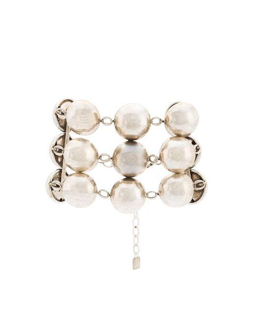 DANNIJO - Gray Beaded Chain Bracelet - Lyst