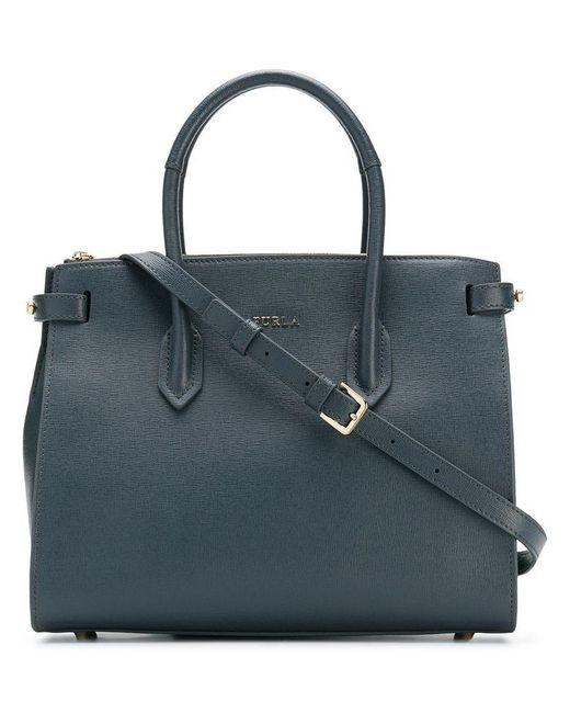 Furla - Gray Pin Tote Bag - Lyst