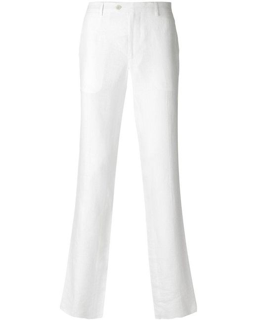 Etro - White Slim Fitted Tailored Trousers for Men - Lyst