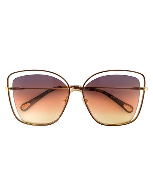 432379a33fb Chloé Poppy Sunglasses in Brown - Save 17% - Lyst