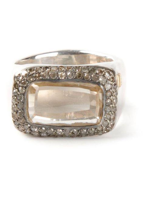 Rosa Maria - Metallic 'nasila' Grey Diamond Topaz Ring - Lyst