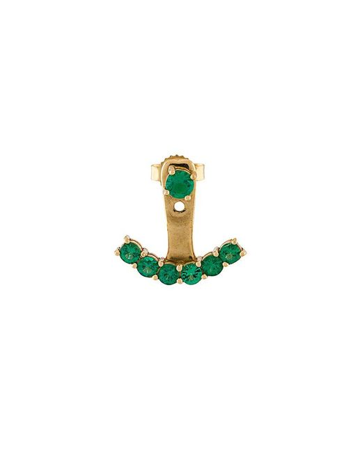 Anita Ko | Green Ear Jacket Earring | Lyst