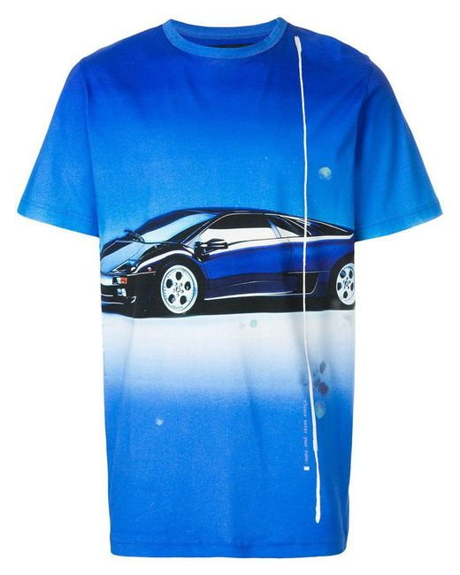 Blood Brother - Blue 'Droptop' T-Shirt for Men - Lyst