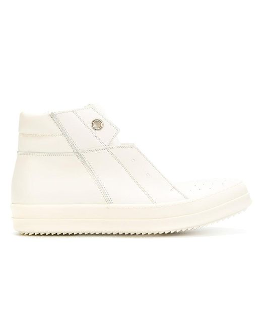 Rick Owens | White Island Dunk Hi-top Sneakers for Men | Lyst