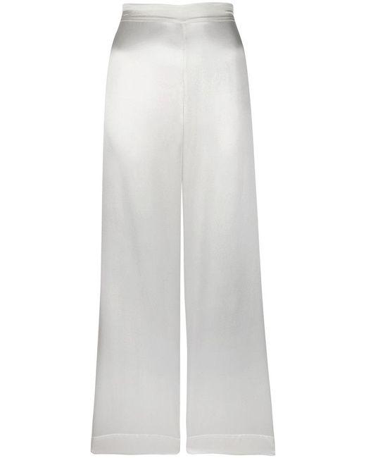 Beautiful Bottoms | White Pyjama Style Side Stripe Trousers | Lyst