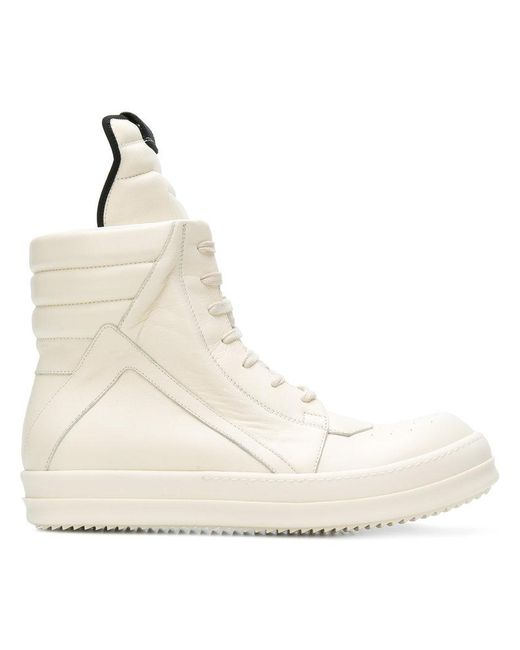 Rick Owens - White Geobasket Hi-top Sneakers for Men - Lyst